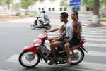 Family motor bike transportation
