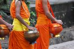 Monks with their bowls