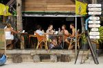 Travellers in cafe on Railay beach