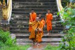 Monks from the monastery of Wat don Muang at Muang Ngoi